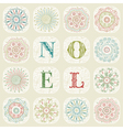 Vintage Christmas Noel Background vector image