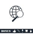 Analyzing world icon flat vector image