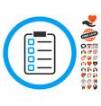 examination page icon with valentine bonus vector image