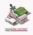 factory isometric set vector image