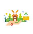 green energy ecology clean planet landscape vector image