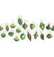 Seamless garland with festive Christmas vector image