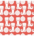 Seamless pattern with stocking and Christmas ball vector image