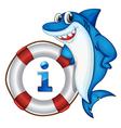 Shark Information Kiosk Sign vector image