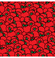 Tomatoes pattern vector image