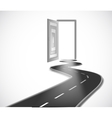 Way with opened door vector image
