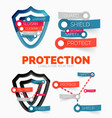 diagram elements set of protection and vector image vector image