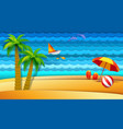 sea and bech holidays vector image