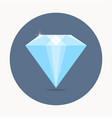 Diamond icon simple symbol with shadow vector image