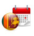 Icon of National Day in Sri Lanka vector image