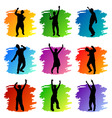 party peoples set vector image