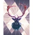 Polygonal Background with Deer vector image vector image