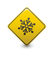 snow warning sign vector image vector image