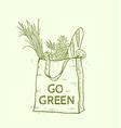 Reusable shopping eco bag vector image