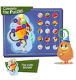 complete the pazzle gift vector image