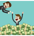 businessman or manager has a lot of money and vector image