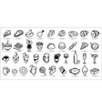 food icons collection vector image