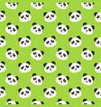 happy panda faces seamless pattern vector image