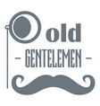 old gentlemen logo simple style vector image