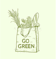 Reusable shopping eco bag vector image