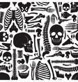 Human Bones Skeleton Pattern vector image