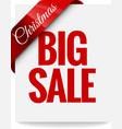 Big Christmas sale Label vector image vector image