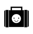 suitcase with stickers style hippie vector image