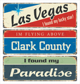 sign collection with USA cities vector image