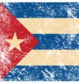 Cuba retro flag vector image
