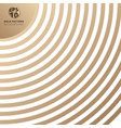 abstract curve line pattern gold color on white vector image