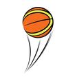 Basketball balloon sketch vector image