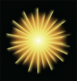Explosion background with yellow colors vector image