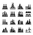 industrial building factory icon set vector image