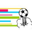 pop art football ball poster vector image