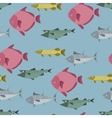 Seamless pattern with river and sea fishes vector image