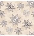 Snowflake Christmas seamless pattern vector image
