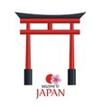 welcome japan icon design vector image