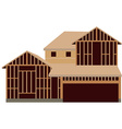 Wooden unfinished house vector image