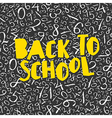 Back to school poster design with numbers pattern vector image vector image