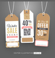 set with sale labels winter sale event vector image vector image