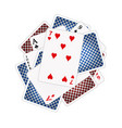 back sides and front sides of playing cards vector image