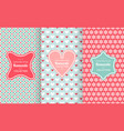pink chic seamless pattern vector image