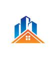 home skyscraper building logo vector image