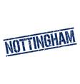 nottingham blue square stamp vector image