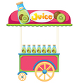 A juice cart vector image vector image