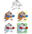 Cartoon dog design vector image vector image