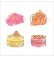 cake  Set of hand drawn cakes vector image