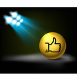 lamp and Like symbol vector image vector image