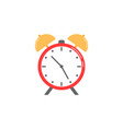 alarm clock flat icon school and office element vector image