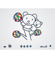 colourful bear vector image